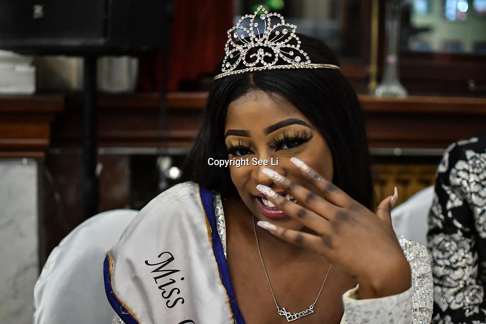 Miss Congo UK 2018-2019 Princess Deborah Tedika attend the Mr & Miss Congo 2020,on 29th February 2020 at Old Townhall,Stratford, London, UK.