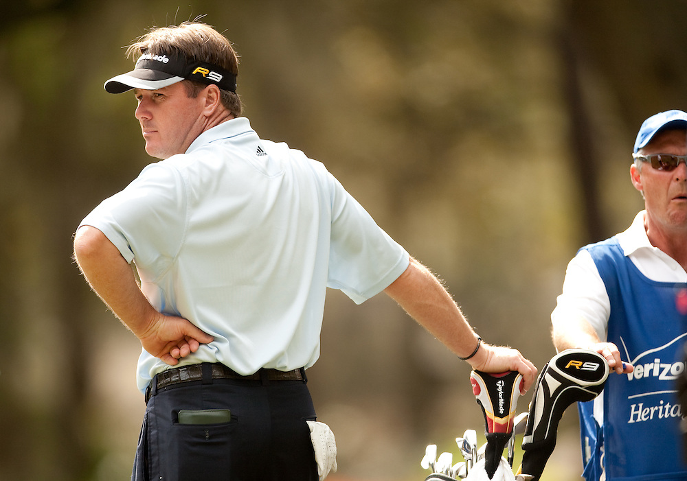 HILTON HEAD, SC - APRIL 18:  Todd Hamilton as seen during the third round of the 2009 Verizon Heritage in Hilton Head, South Carolina at Harbour Town Golf Links on Saturday, April 18, 2009. (Photograph by Darren Carroll) *** Local Caption *** Todd Hamilton