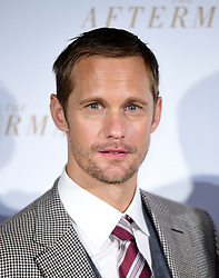 Alexander Skarskgard attending the world premiere of The Aftermath, held at the Picturehouse Central Cinema, London