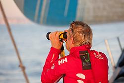 onboard Team Sanya on leg 0 of the Volvo Ocean Race 2011-12. (Credit: Sander van der Borch/Team Sanya/Volvo Ocean Race)