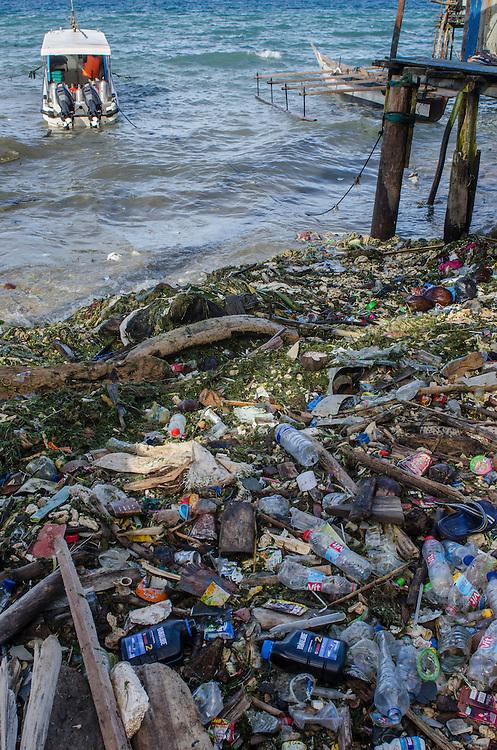 Beach trash<br /> Biak Island<br /> West Papua<br /> Indonesia
