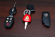 2008 Aston Martin DB9 S-Pack key.2004 Ferrari 360 Challenge Stradale key.2005 Lamborghini Gallardo key .Corporate Drive Day with Octane Events & The Supercar Club.Mornington Pennisula, Victoria .6th-7th of August 2009 .(C) Joel Strickland Photographics.