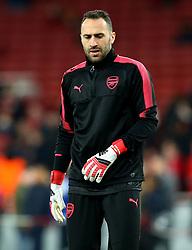 David Ospina of Arsenal - Mandatory by-line: Robbie Stephenson/JMP - 15/03/2018 - FOOTBALL - Emirates Stadium - London, England - Arsenal v AC Milan - UEFA Europa League Round of 16, Second leg