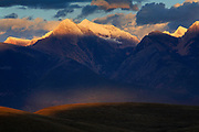 Sunset over the Mission Mountains, Montana.