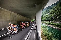 Peloton near Litija  during 1st Stage of 26th Tour of Slovenia 2019 cycling race between Ljubljana and Rogaska Slatina (171 km), on June 19, 2019 in  Slovenia. Photo by Vid Ponikvar / Sportida