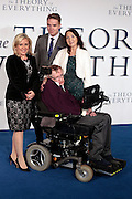 "Dec 9, 2014 - ""The Theory Of Everything"" - UK Premiere - Red Carpet Arrivals at Odeon,  Leicester Square, London<br /> <br /> Pictured: Lucy Hawking, guest, Jane Hawking and Professor Stephen Hawking<br /> ©Exclusivepix Media"
