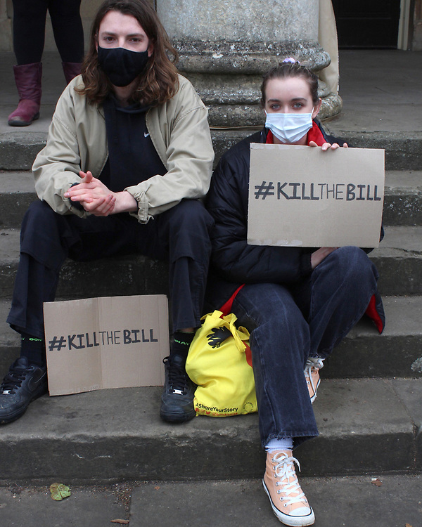 A peaceful protest walks from Pittville Park in Cheltenham to an industrial estate to raise awareness of protest rights and kill the bill.