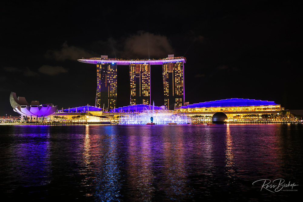 Spectra light and water show at the Marina Bay Sands, Singapore, Republic of Singapore