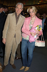 Rolling Stone CHARLIE WATTS and his daughter SERAPHINA at a party to celebrate the publication of Treasure Islands - Britain's History Uncovered by Bill Wyman and Richard Havers held at The British Museum, London on 21st March 2005.<br /><br />NON EXCLUSIVE - WORLD RIGHTS