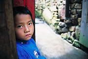 Miao boy, traditional village, Duyun, Guizhou Province, China,