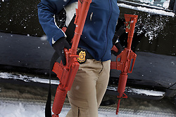 A member of Hillary Clinton's security detail takes part in training drills at a training facility in Summit Point, W.Va on Dec. 16, 2011.