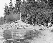 "9616-A79 ""Seward Park. Bathing Beach. Aug. 8, 1921."" Seattle, Washington State."