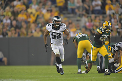 Brad Jones #52 of the Philadelphia Eagles against the Green Bay Packers at Lambeau Field on August 29, 2015 in Green Bay, Pennsylvania. The Eagles won 39-26. (Photo by Drew Hallowell/Philadelphia Eagles)