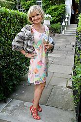 COUNTESS MAYA VON SCHONBURG attending Annabel Goldsmith's Summer party held at her home in Ham, Surrey on 10th July 2014.