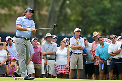 August 9, 2018 - St. Louis, Missouri, United States - Phil Mickelson tees off during the first round of the 100th PGA Championship at Bellerive Country Club. (Credit Image: © Debby Wong via ZUMA Wire)
