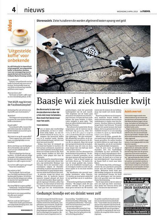 Parool voorpagina asiel 3 april 2013