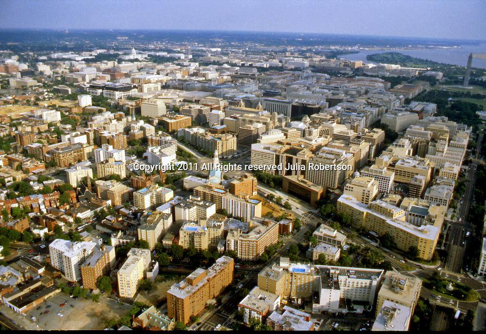 Aerial view of the Thomas Circle, Washington Dc