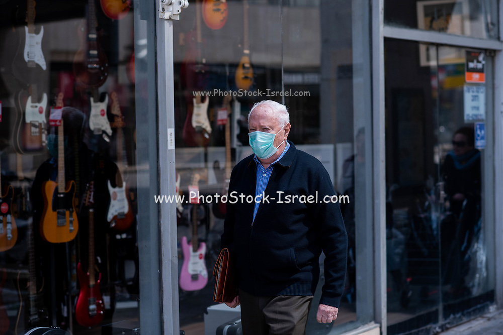 The outbreak of COVID-19 has forced governments around the world to impose a civil quarantine. The outcome of this are empty streets and public places. Photographed in Ibn Gabirol street, Tel Aviv, Israel on April 8th 2020