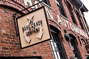 Bang Candy Company sign at Marathon Village in Nashville, TN.