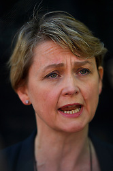© Licensed to London News Pictures. 24/06/2016. London, UK. Labour MP YVETTE COOPER speaking to media in Westminster, London on the day that the UK voted to leave the EU in a referendum. Photo credit: Ben Cawthra/LNP