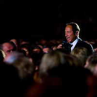 Singer-composer Paul Anka during his concert tour in Papp Laszlo Budapest Sports Arena.