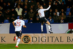 Josh Vela of Bolton Wanderers celebrates after scoring his sides first goal  - Mandatory by-line: Matt McNulty/JMP - 28/02/2017 - FOOTBALL - Macron Stadium - Bolton, England - Bolton Wanderers v Bristol Rovers - Sky Bet League One