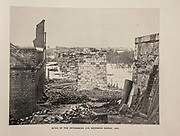 """RUINS OF THE PETERSBURG AND RICHMOND BRIDGE, 1865. from The American Civil War book and Grant album : """"art immortelles"""" : a portfolio of half-tone reproductions from rare and costly photographs designed to perpetuate the memory of General Ulysses S. Grant, depicting scenes and incidents in connection with the Civil War Published  in Boston and New York by W. H. Allen in 1894"""