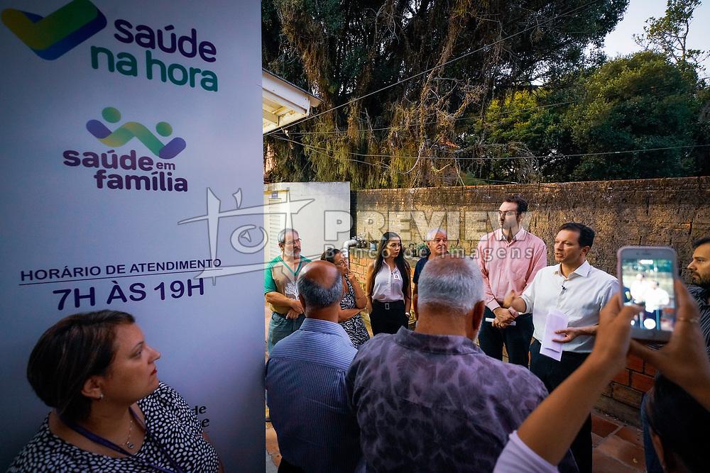 Porto Alegre, RS 03/03/2020: O prefeito, Nelson Marchezan Júnior, visitou, na tarde desta quarta-feira (03), a Unidade de Saúde Lami, no bairro Lami, na capital. Foto: Jefferson Bernardes/PMPA