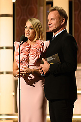 Jan 8, 2017 - Beverly Hills, California, U.S - Presenters CARRIE UNDERWOOD and STING on stage at the 74th Annual Golden Globe Awards at the Beverly Hilton in Beverly Hills, CA on Sunday, January 8, 2017. (Credit Image: ? HFPA/ZUMAPRESS.com)