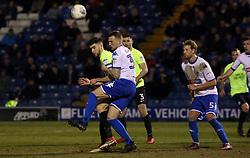 Jack Baldwin of Peterborough United in action with Peter Clarke of Bury - Mandatory by-line: Joe Dent/JMP - 13/03/2018 - FOOTBALL - Gigg Lane - Bury, England - Bury v Peterborough United - Sky Bet League One