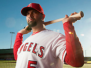 Albert Pujols poses during the Angels' Photo Day at Spring Training in Tempe, AZ on Tuesday, February 21, 2017. (Photo by Kevin Sullivan, Orange County Register/SCNG)