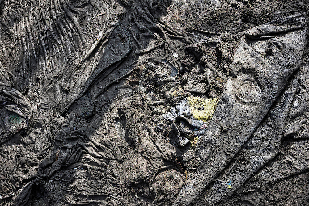 Relics remain, testifying to what may become a forgotten history, as the camp is buried by bulldozers in Northern France.