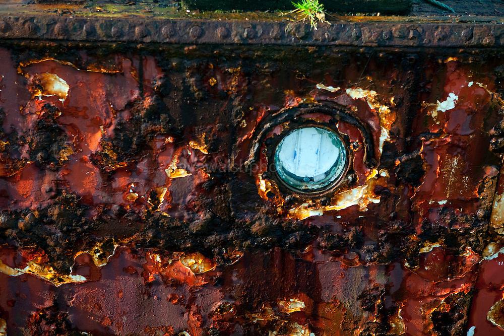 Wrecked ship in Ballinakill Bay, near Letterfrack, Connemara, Galway, Ireland.