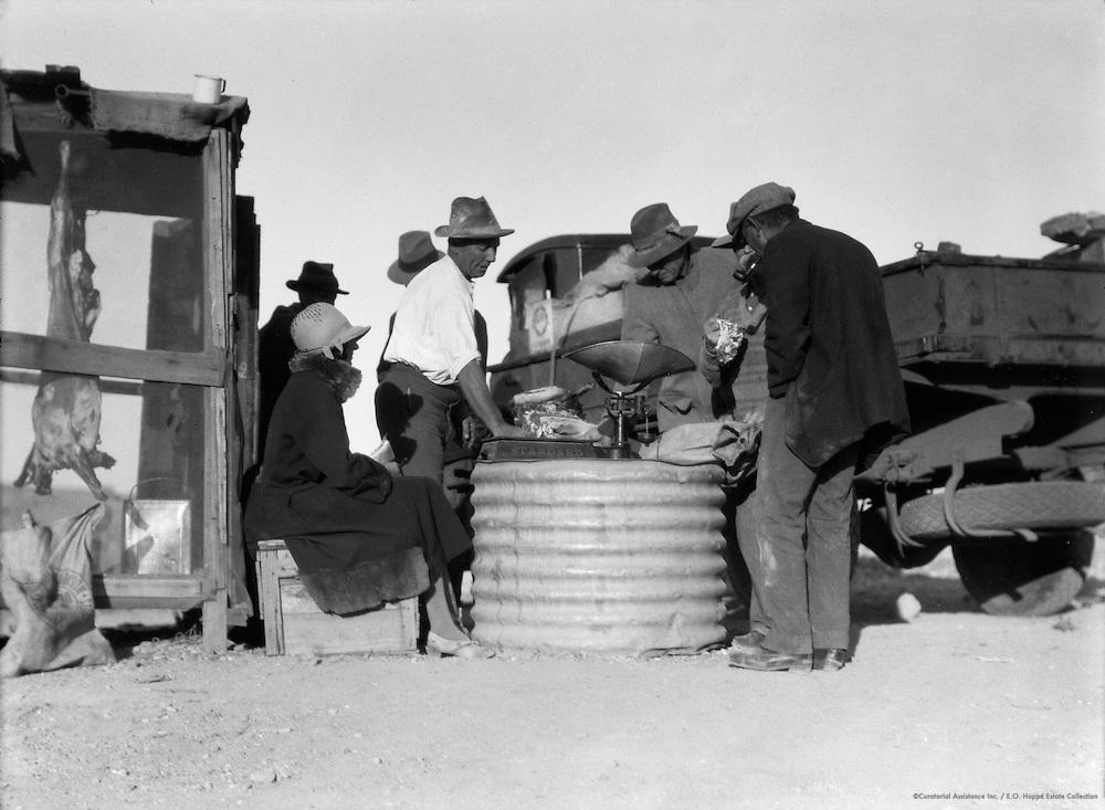 Miss Barrington Visits Coober Pedy Opal Fields, South Australia, 1930