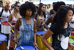 November 17, 2018 - Curitiba, Brazil - CURITIBA, PR - 17.11.2018: MARCHA DO ORGULHO CRESPO - This Saturday (17), members of the black movement of Curitiba made the third edition of the Crespo Pride March. The act is part of the celebrations of the month of black consciousness. (Credit Image: © Henry Milleo/Fotoarena via ZUMA Press)