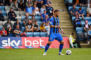 Gillingham FC defender Max Ehmer (5) with Skybet hoarding during the EFL Sky Bet League 1 match between Gillingham and Coventry City at the MEMS Priestfield Stadium, Gillingham, England on 25 August 2018.