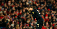 Football - 2019 / 2020 Emirates FA Cup - Third Round: Liverpool vs. Everton<br /> <br /> Adrian of liverpool at Anfield.<br /> <br /> COLORSPORT/LYNNE CAMERON