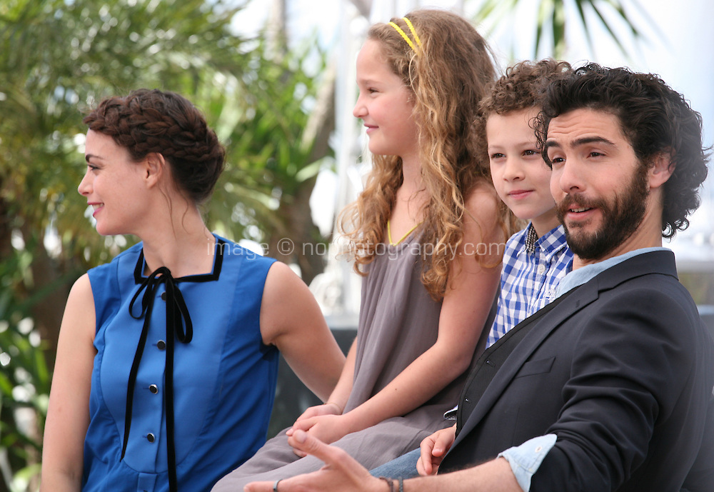 Bérénice Bejo, Jeanne Jestin, Elyes Aguis, Tahar Rahim, Le Passé (The Past) film photocall at the Cannes Film Festival 17th May 2013