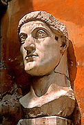 ITALY, ROME Capitoline Hill, Palazzo Conservato museum; fragments of a colossal 30' tall statue of Constantine the Great from 313AD