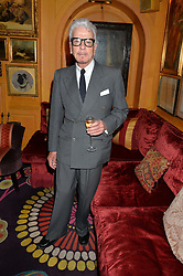 NICKY HASLAM at an exclusive dinner for Iris Apfel held at Annabel's, Berkeley Square, London on 29th July 2015.