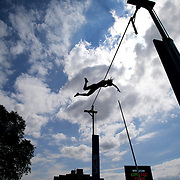 Fabiana Murer, Brazil, in action during her victory in the Women's Pole Vault competition at the Diamond League Adidas Grand Prix at Icahn Stadium, Randall's Island, Manhattan, New York, USA. 14th June 2014. Photo Tim Clayton