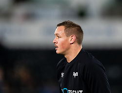 Hanno Dirksen of Ospreys during the pre match warm up<br /> <br /> Photographer Simon King/Replay Images<br /> <br /> European Rugby Champions Cup Round 1 - Ospreys v Munster - Saturday 16th November 2019 - Liberty Stadium - Swansea<br /> <br /> World Copyright © Replay Images . All rights reserved. info@replayimages.co.uk - http://replayimages.co.uk