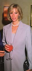 MRS ZARA PLUNKETT-ERNLE-ERLE-DRAX sister of Tiggy Legge-Bourke, at a dinner in London on 29th September 1998.MKK 16 woro