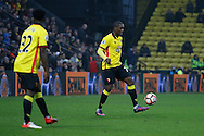 Watford midfielder Brandon Mason (32) and Watford striker Odion Ighalo (24) during the The FA Cup 3rd round match between Watford and Burton Albion at Vicarage Road, Watford, England on 7 January 2017. Photo by Richard Holmes.