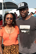 3 September 2011- New York, NY-  l to r: Dr. Brenda Greene and Talib Kweli backstage at the 11th Annual Rock The Bells Concert Series held on Governors Island on September 3, 2011 in New York City. Photo Credit: Terrence Jennings