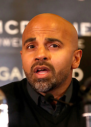 Dave Coldwell during the press conference at Sheffield Town Hall.