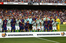 August 20, 2017 - Barcelona, Catalonia, Spain - tribute for the victims of the Barcelona attack before La Liga match between F.C. Barcelona v Alaves, in Barcelona, on September 10, 2016. Photo: Edi Capmany/Urbanandsport/Nurphoto  (Credit Image: © Joan Valls/NurPhoto via ZUMA Press)
