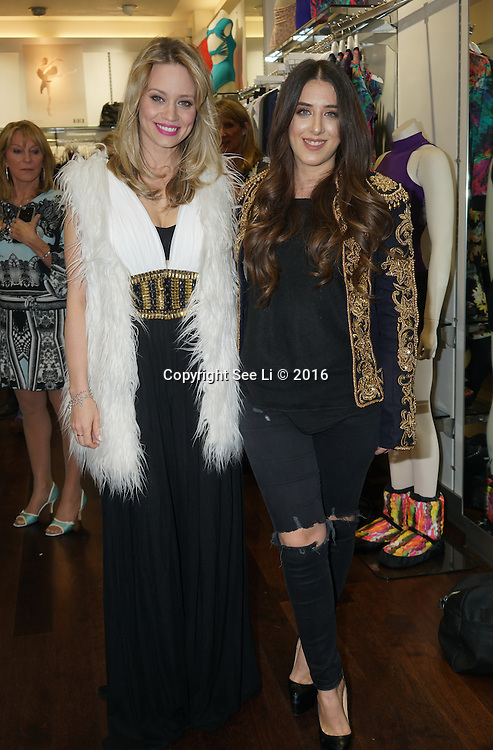 London,England,UK : 28th April 2016 : Kimberly Wyatt ,Ella Jade attend Kimberly Wyatt launches the 2016 annual BLOCH Dance World Cup at BLOCH, 35 Drury Lane, Covent Garden, London. Photo by See Li