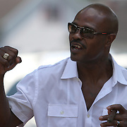 Boxer Terry Norris during the 23rd Annual International Boxing Hall of Fame Induction ceremony at the International Boxing Hall of Fame on Sunday, June 10, 2012 in Canastota, NY. (AP Photo/Alex Menendez)