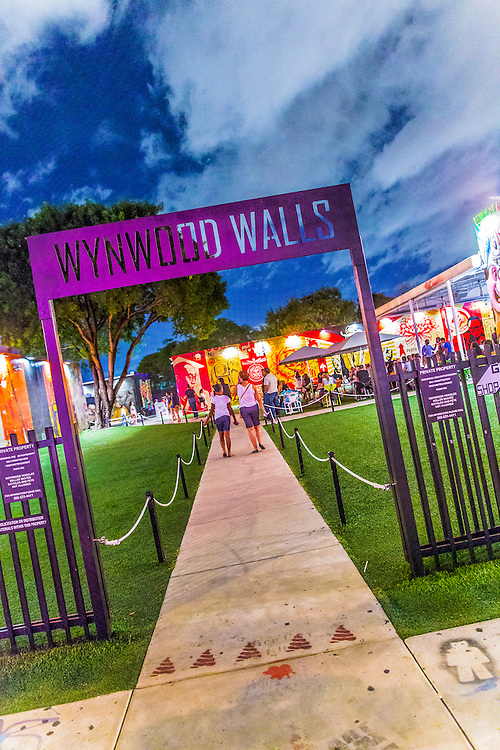Entrance to the Wynwood Walls outdoor street art museum in Miami